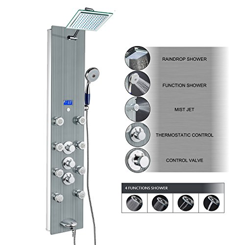 AKDY Tempered Multi Function Rainfall Thermostatic