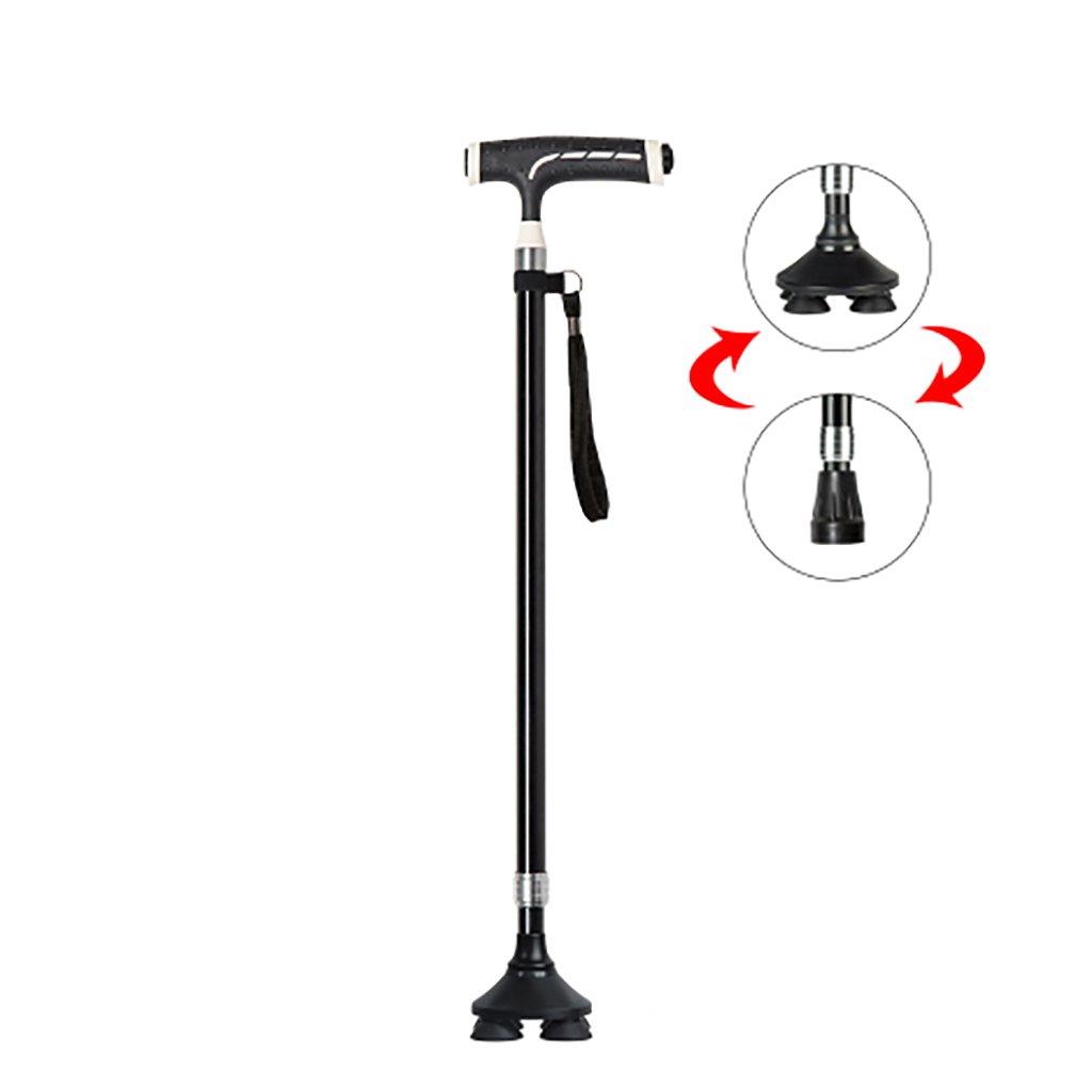 XUEPING 高齢者と軽い松葉杖で歩くスティック5つのスタイル2色歩行可能なスティック調整範囲70 Cm-96 Cm ( 色 : ブラック , サイズ さいず : B ) B078Y4HXDT B|ブラック ブラック B