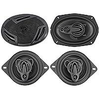 (2) Rockville RV69.4A 6x9 1000w 4-Way Car Speakers+(2) 3.5 200w 3-Way Speakers