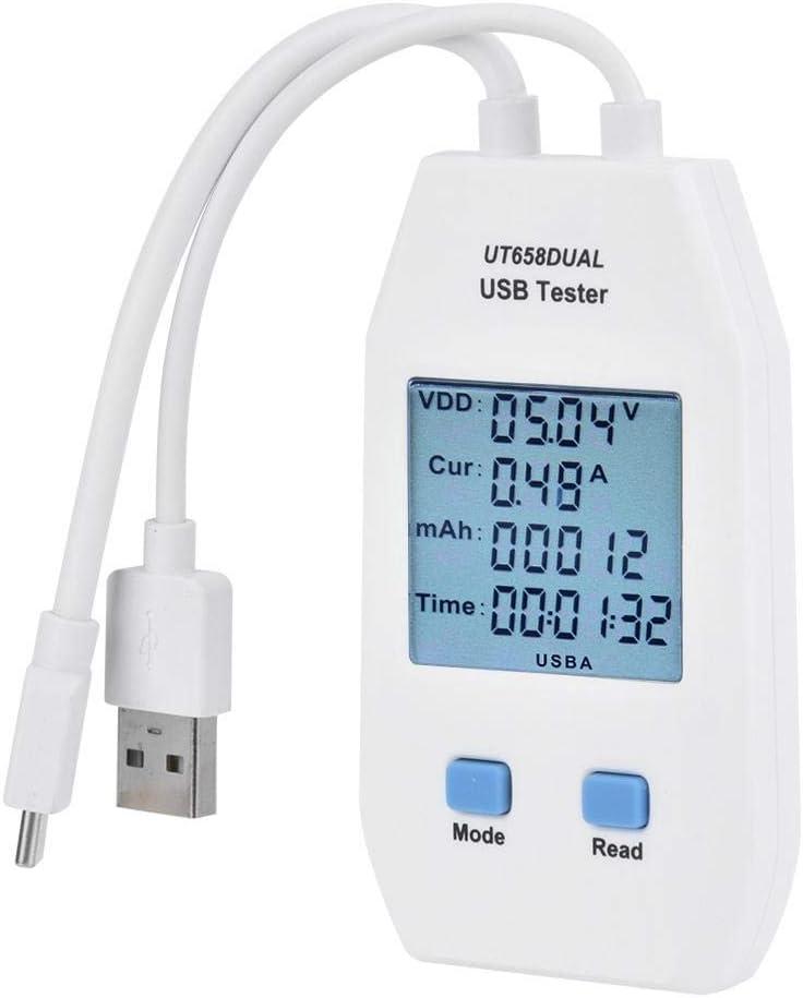 USB Digital Power Meter Mini USB Voltmeter Amperemeter Detektor Tester Multimeter Strom Spannungs/überwachung UT658 Dual