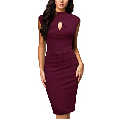 Miusol Women's Business Slim Style Ruffle Work Pencil Dress at Women's Clothing store
