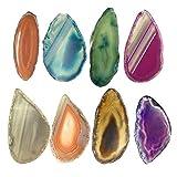 Autumn Water Agate Slice Coaster Brazil Raw Gemstone Crystal Ornament Home Decor Nature Colorful Alagate Bead Polished Quartz Random Color