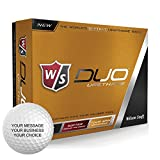 Wilson Staff Duo Urethane Personalized Golf Balls - Add Your Own Text (12 Dozen)
