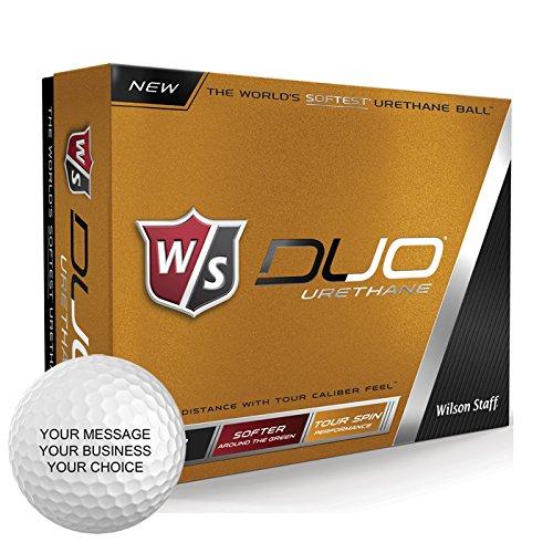 Wilson Staff Duo Urethane Personalized Golf Balls - Add Your Own Text (12 Dozen)