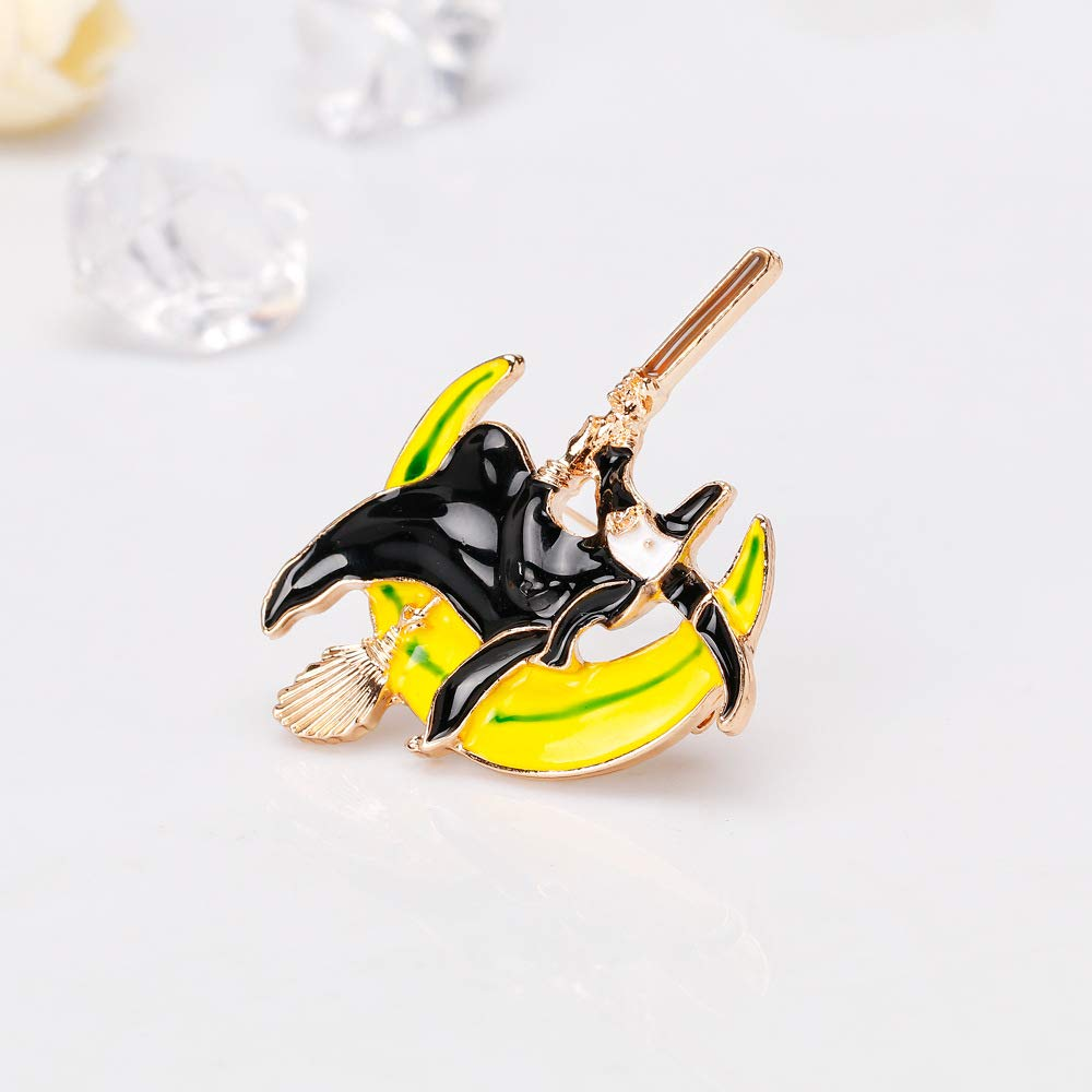 YYOGG Halloween Brooch Exquisite Alloy Witch Brooch Brooch