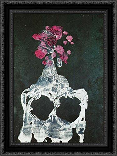 The Vertebrate Grotto - Transfer Series 24x18 Black Ornate Wood Framed Canvas Art by Salvador ()