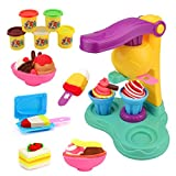 Jellydog Toy Dough Tools Set, Ice Cream Playset, Play Dough for Kids, Creative DIY Plasticine Molding Set, Ice Cream Set with Machine and Mold for Girls and Boys