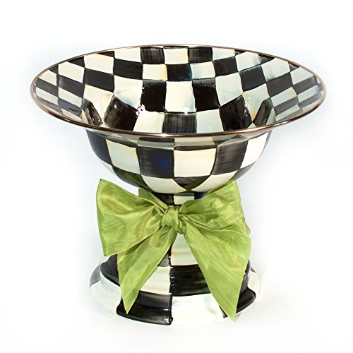 Mackenzie-Childs Courtly Check Enamel Compote Large