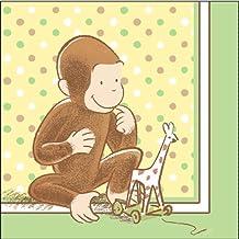 "1st Cute Curious George 13"" Lunch Napkin - 16/Pkg."