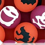 Custom & Unique {27mm} 500 Bulk Pack, Mid-Size Super High Bouncy Balls, Made of Grade A+ Rebound Rubber w/ Owl Cat Witch Bat Crow Skull & Cross Bone Ghosts Jack-o-Lantern (Pink, White, Black & Orange)