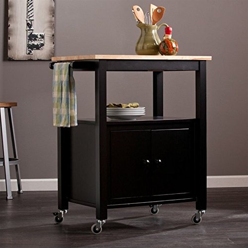 Kenner Kitchen Cart in Black by Southern Enterprises