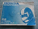 1988 Honda VT600C Shadow VLX Owners Manual VT 500 C
