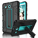 Galaxy Tab E 9.6 Case, Elegant Choise Case with Kickstand Three Layer Heavy Duty Shockproof Defender Rugged Protective Case Cover for Samsung Galaxy Tab E 9.6 inch/SM-T560/T561/T567 (Blue/Black)