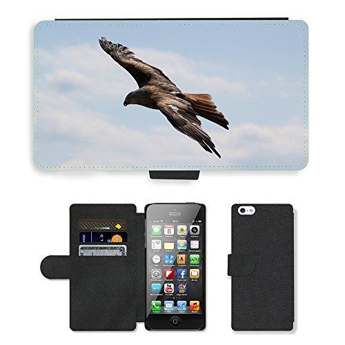 GoGoMobile PU Leather Flip Custodia Protettiva Case Cover per // M00123728 Oiseaux Aigle // Apple iPhone 5 5S 5G