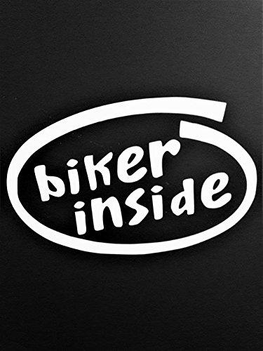 激安 バイカー内側オートバイダートバイクビニールデカールsticker|white|carsトラックVans B0792G33Q2