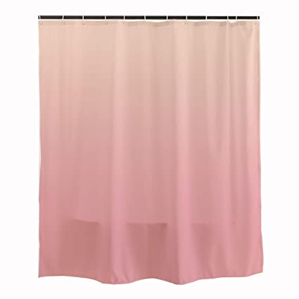 Amazon Orange Design Ombre Pink Shower Curtain With Hooks 71x71