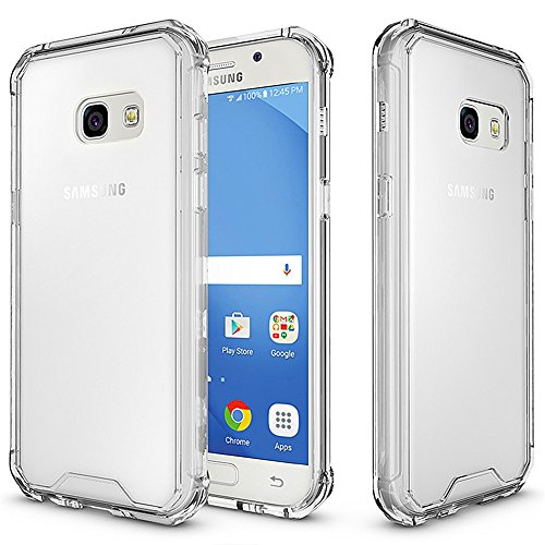 Galaxy A7 (2017) Case, KMO [Shockproof] [Ultra Clear] [Anti-Scratch] [Slim Fit] [Reinforced Corners] Silicone TPU Gel Protection Cover With PC Scratch Proof Back for Samsung Galaxy A7 (2017)