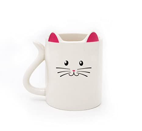 Ayomi diseño de orejas de Animal Gato con taza de café té leche taza de regalo
