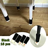 16PCS (4 Sets) Chair Socks Fancy Table Leg Socks with Cute Cat Paws Design, Reliable Furniture & Floor Protector, Effectively Reduce Noise, Color Black