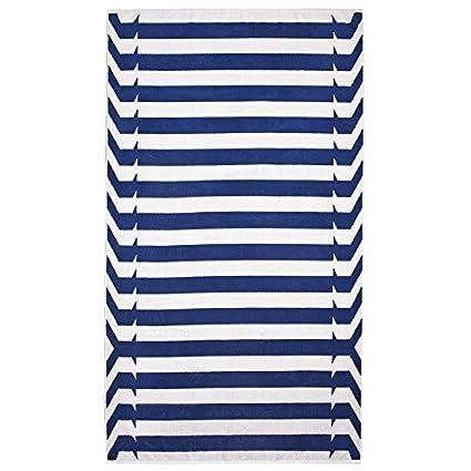 elaiva alta calidad Toalla de playa/playa/toalla Nautical Stripes Azul de Algodón 100