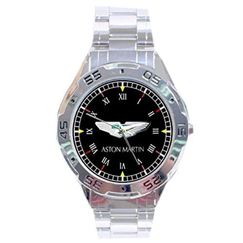 MRZK097 NEW RARE Aston Martin CUSTOM CASUAL CHROME MEN'S WATCH - Aston Stainless Steel Watch