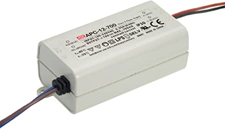 Mean Well MW 9~36V 350mA 12W AC//DC LED Driver APC-12-350 Constant current