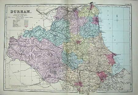 Durham England Map on