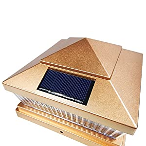 iGlow 8 Pack Copper Outdoor Garden 6 x 6 Solar SMD LED Post Deck Cap Square Fence Light Landscape PVC Vinyl Wood Bronze