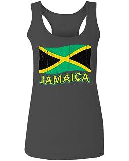8690dac503d Jamaica Tee Jamaican National Country Flag Tee Carribean Women's Tank Top  Sleeveless Racerback