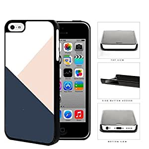 Navy Blue And Pink Geometric Hard Plastic Snap On Cell Phone Case Apple iPhone 5c