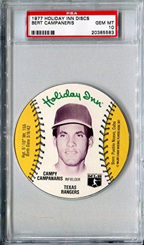 1977-msa-holiday-inn-sports-discs-bert-campy-campaneris-rare-psa-gem-mint-10-sp-texas-rangers-oaklan