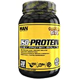 MAN Sports ISO-Protein 100% Pure Whey Protein Isolate Powder, Peanut Butter Bits, 2 Pounds