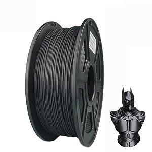 Suntop PLA Filament 3D Printer Filament Carbon Fiber Filament 1.75mm 20% Carbon Fiber Dimensional Accuracy +/- 0.03 mm 1kg 2.2lbs Black Spool