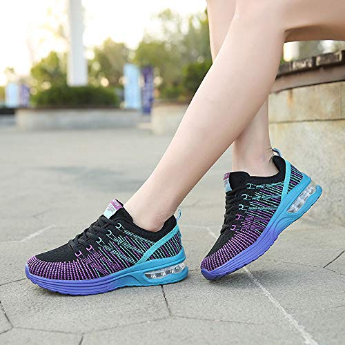 Net Morado Zapatillas Cojines 41 Para Running 35 Gimnasia Deportivas Estudiante Calzado Volar Tejidos Deporte De 861 Mujer Logobeing Sneakers Con Zapatos Aire 8FRIR