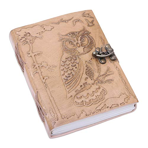 - NOVICA Cotton and Leather Owl Journal 7