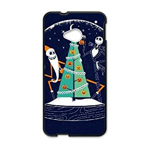HTC One M7 Cell Phone Case Black HALLOWEEN GLASS BALL JSK649904