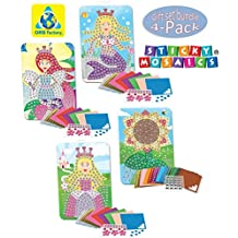 The Orb Factory Sticky Mosaics Singles Bundles with Sunflower, Mermaid, Princess and Fairy Sticky Mosaics