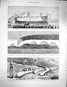 Soporte Hecla Islandia Rocky Canadá de Comus de la Nave del Vapor 1878