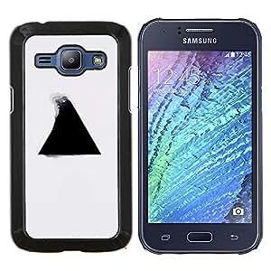 LECELL--Funda protectora / Cubierta / Piel For Samsung Galaxy J1 J100 -- Geometría del triángulo B & W --