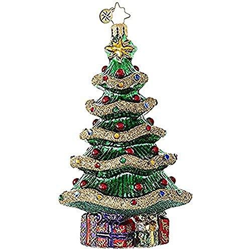 Christopher Radko Garland Christmas Tree Glass Christmas Ornament - 5.5