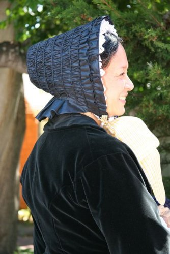 Victorian Style Hats, Bonnets, Caps, Patterns 1845-50 Drawn Bonnet Pattern $13.95 AT vintagedancer.com