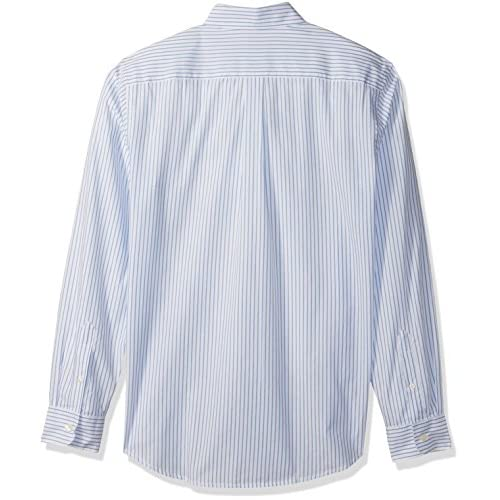 0160fcf35e best Dockers Men's Long-Sleeve Pencil Stripe Button-Front Shirt with Pocket
