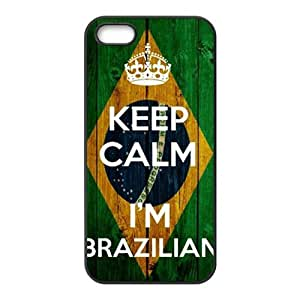 keep calm i'm brazilian Phone Case For HTC One M7 Cover