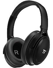 TaoTronics Noise Cancelling Kopfhörer Bluetooth Kopfhörer Over Ear mit aktiver Rauschunterdrückung 25 Std. Laufzeit, TT-BH22 mit eingebauten Mikro CVC 6.0, duale 40 mm Tieftontöner, Faltbare Ohrhörer