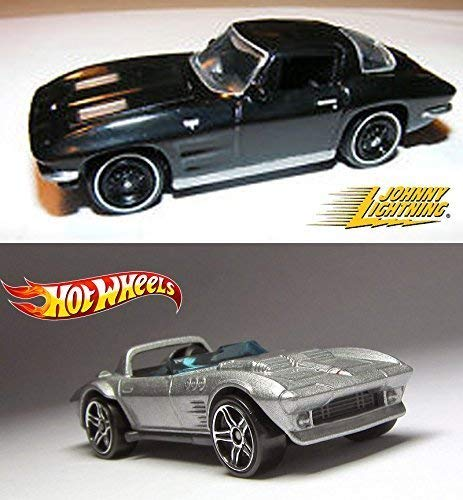 Hot Wheels Gulf Oil Graphics Corvette ZR1 & Ford GT Set Racing 2015 & 2016 Speed Graphics in Protective Cases