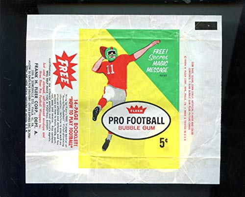 1961 Fleer Football Card Set Wax Pack Wrapper 5c 5 Cent How To Play Booklet Ad