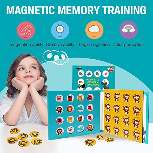 Magnetic Foam Matching Memory Educational Game Fun Family Indoor Outdoor Travel