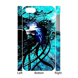 Durable Phone Case iphone4 4S 3D Cell Phone Case White Black Rock Shooter Lpniq Plastic Durable Cover