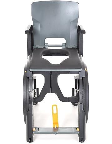 Silla de ducha plegable con ruedas