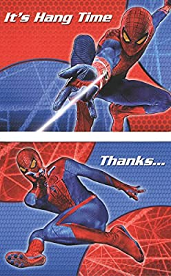Marvel The Amazing Spiderman Set of 8 Invitations, 8 Thank You's, and 16 Envelopes (It's Hang Time)